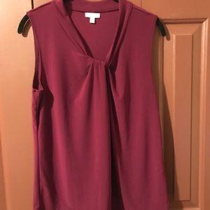 Talbots dark burgundy dress top